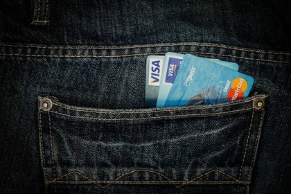 ポケットに入れているクレジットカード