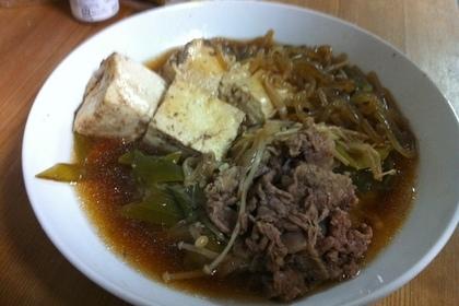 豆腐と糸こんにゃくの料理