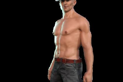 筋肉がついている男性
