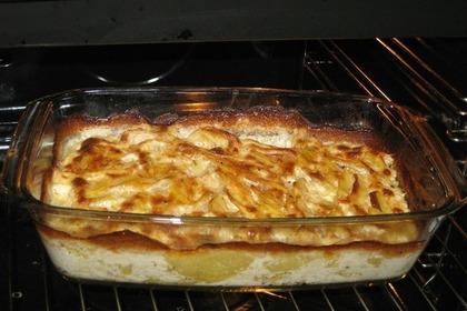 オーブンの中のグラタン