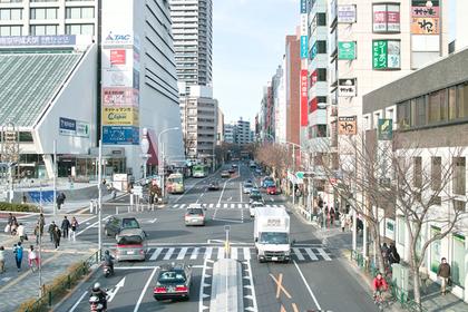 中野駅北口方面の中野通り