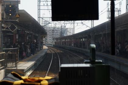 電車から見た西浦和駅
