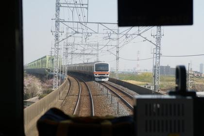 電車から見たJR武蔵野線