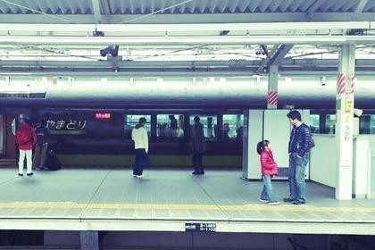 浦和駅反対側の駅のホーム