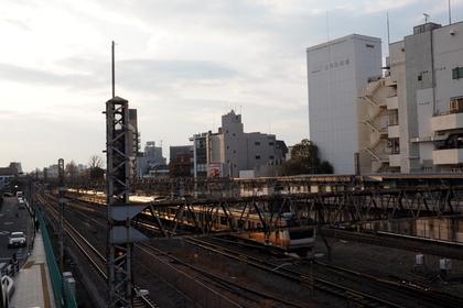 上から見た荻窪駅の線路