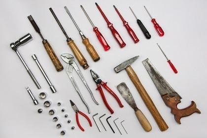 多くの工具