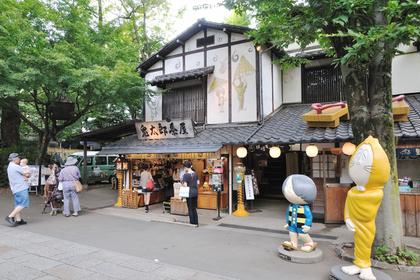 深大寺の鬼太郎茶屋と鬼太郎とねずみ男の置物