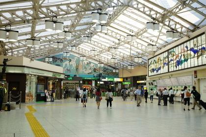 上野駅の広い構内
