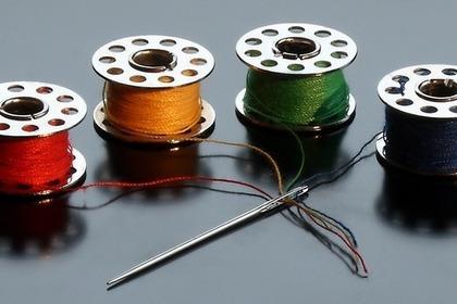 ボビンと縫い針
