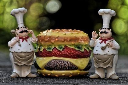 ワッフルハンバーガー