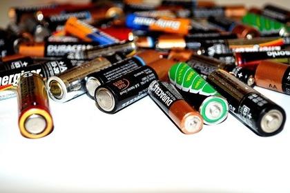 大量の電池
