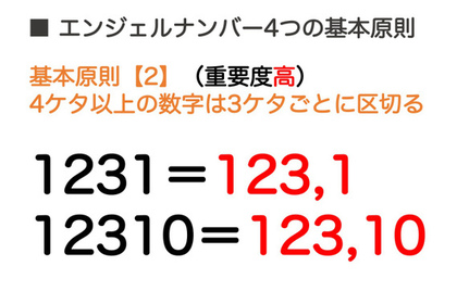 基本原則【2】4ケタ以上の数字は3ケタごとに区切る