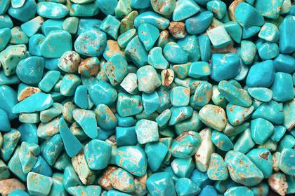 たくさんの青い石