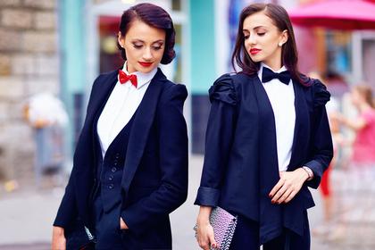 タキシードを着た二人の女性