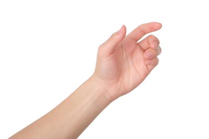 開きかけた手