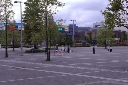 レゴランドの駐車場