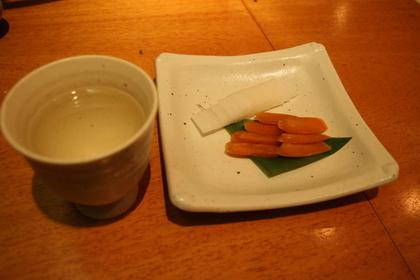 からすみと日本酒