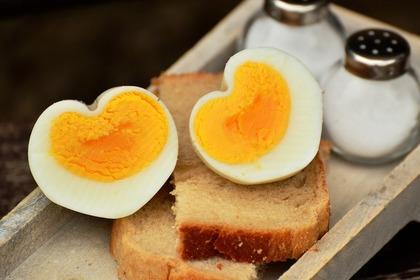 ハート型のゆで卵