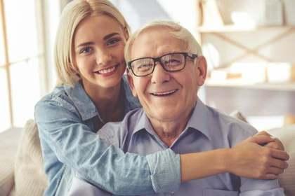 お祖父さんと娘