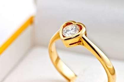 ハート型の指輪