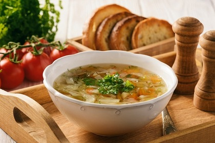 玉ねぎ入りスープ