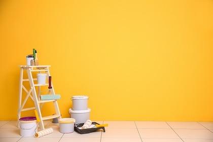 黄色い壁,ペンキ